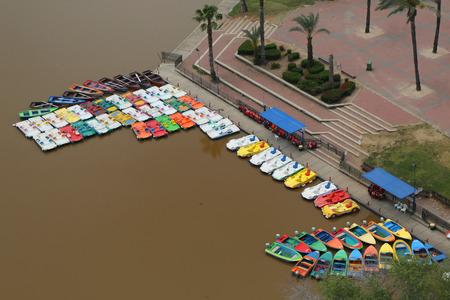 israeli: Boat rental at the HaYarkon Park on the outskirts of Tel Aviv