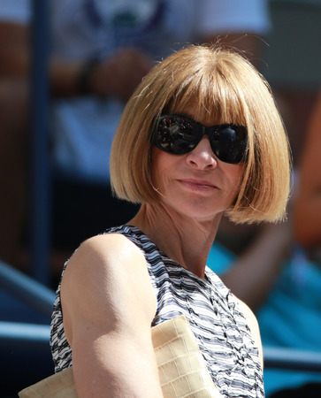 NEW YORK - SEPTEMBER 4, 2016: Editor-in-chief of Vogue magazine Anna Wintour attends US Open 2016 match at USTA Billie Jean King National Tennis Center in New York