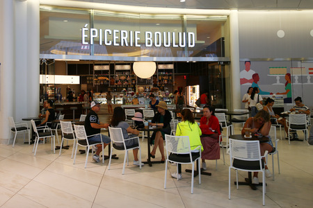 NEW YORK - JULY 16, 2017: Newest location of Epicerie Boulud serves french light fare & baked goods from Daniel Boulud in the World Trade Center Oculus