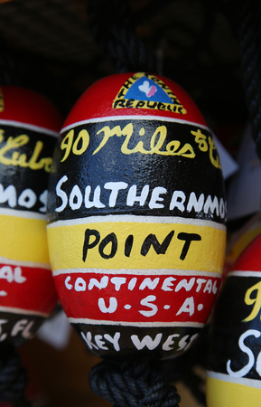 KEY WEST, FLORIDA - MAY 30, 2016: Local souvenirs in Key West, Florida