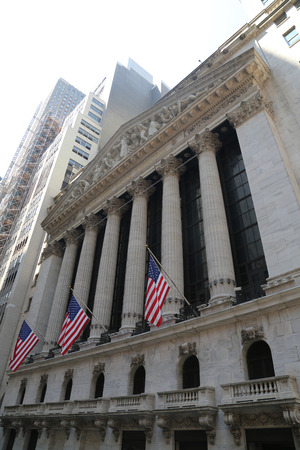 nyse: NEW YORK - AUGUST 3, 2017: The New York Stock Exchange in Manhattan. It is by far the worlds largest stock exchange by market capitalization of its listed companies at US$16.613 trillion as of May 2013