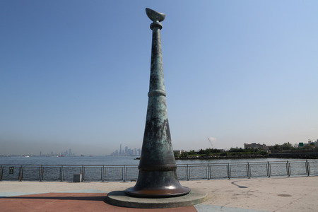 the strongest: BROOKLYN, NEW YORK - AUGUST 3, 2017: Brooklyn Remembers September 11 memorial located at 69 Street pier and overlooking World Trade Center site in Bay Ridge, Brooklyn Editorial