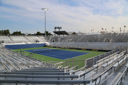 louis armstrong: NEW YORK - AUGUST 25, 2016: Temporary Louis Armstrong Stadium at the Billie Jean King National Tennis Center ready for US Open 2017 tournament in Flushing, NY