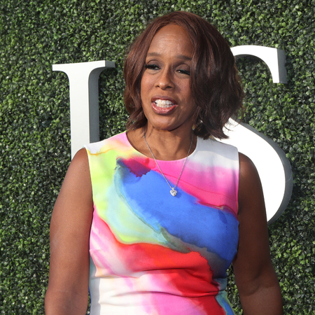 NEW YORK - AUGUST 28, 2017: Co-anchor of CBS This Morning Gayle King on the blue carpet before US Open 2017 opening night ceremony at Tennis Center in New York Editorial