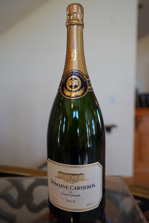 NAPA VALLEY, CALIFORNIA - SEPTEMBER 22, 2017: Domaine Carneros Sparkling Wine in Napa Valley. Domaine Carneros is a winery best known as a small grower producer of methode champenoise sparkling wine Editorial