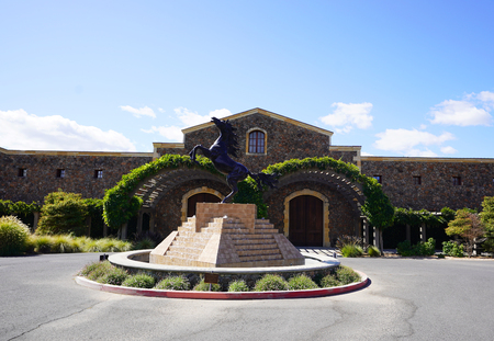 NAPA, CALIFORNIA - SEPTEMBER 21, 2017: Black Stallion Winery in Napa Valley.