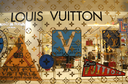 NEW YORK - NOVEMBER 5, 2017: The Louis Vuitton store in Brookfield Place, Lower Manhattan. The Louis Vuitton company operates in 50 countries with more than 460 stores worldwide