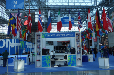 NEW YORK - NOVEMBER 28, 2017: Registration area at the Greater New York Dental Meeting at Javits Center. The Greater New York Dental Meeting is the largest healthcare and dental event in the US Editorial