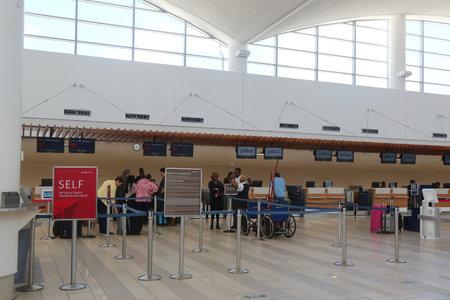 NASSAU, BAHAMAS - DECEMBER 6, 2017: Lynden Pindling International Airport terminal in Nassau, Bahamas. Editorial