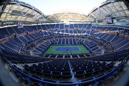 NEW YORK - SEPTEMBER 4, 2017: Arthur Ashe Stadium at the Billie Jean King National Tennis Center during 2017 US Open tournament in Flushing, NY