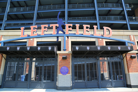 FLUSHING, NEW YORK - SEPTEMBER 5, 2017: Left Field entrance gate at the Citi Field, home of major league baseball team the New York Mets in Flushing, New York Editorial