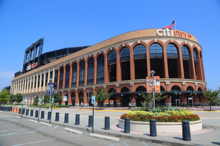 FLUSHING, NEW YORK - SEPTEMBER 5, 2017: Citi Field, home of major league baseball team the New York Mets in Flushing, New York