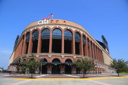 FLUSHING, NEW YORK - SEPTEMBER 5, 2017: Citi Field, home of major league baseball team the New York Mets in Flushing, New York