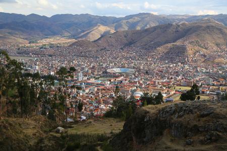 Cuzco, Peru. Aerial view.