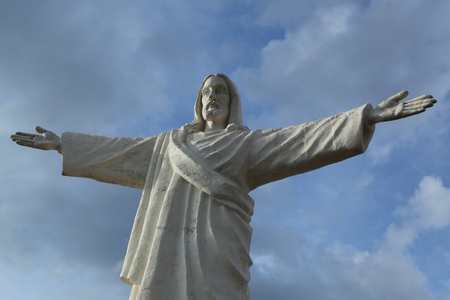 Christ the Redeemer or Cristo Blanco statue in Cuzco, Peru 版權商用圖片
