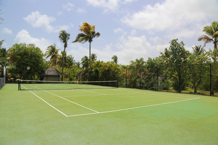 Tennis court at the tropical resort