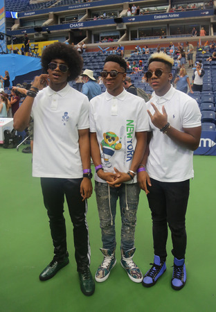 NEW YORK - AUGUST 26, 2017: American pop rock band Saving Forever participates at Arthur Ashe Kids Day 2017 at Billie Jean King National Tennis Center