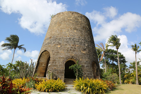 Old sugar mill in Caribbeans