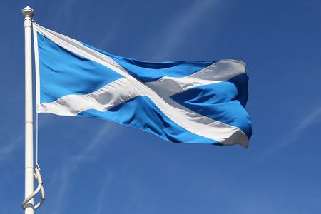 Flag of Scotland waving Banque d'images