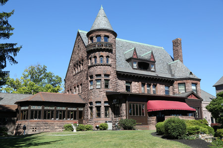 GENEVA, NEW YORK - JULY 19, 2018: Belhurst Castle and Winery in Finger Lakes region, Upstate New York