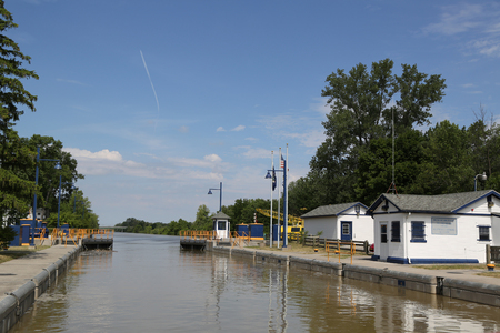 A Lock 33 on the Erie Canal in Upstate New York