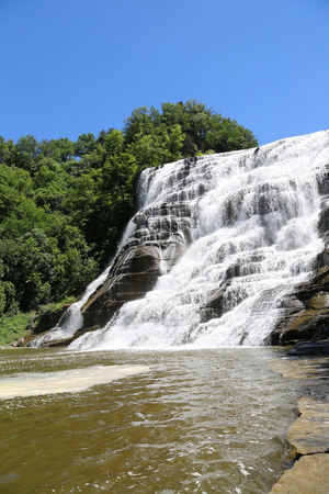 Ithaca Falls, a waterfall in New Yorks Finger Lakes Region