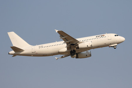 JOHANNESBURG, SOUTH AFRICA - SEPTEMBER 27, 2018: Mango Airlines Airbus A320 takes off from O. R. Tambo International Airport in Johannesburg, South Africa