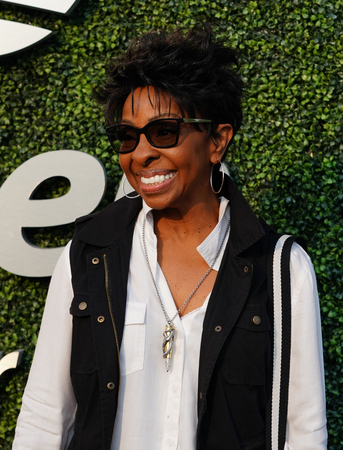 NEW YORK - AUGUST 27, 2018: American soul singer and songwriter Gladys Knight on the blue carpet before 2018 US Open opening night ceremony at Tennis Center in New York Editorial