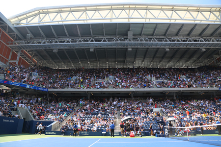 NEW YORK - SEPTEMBER 1, 2018: Arthur Ashe Stadium at the Billie Jean King National Tennis Center during 2018 US Open tournament in New York