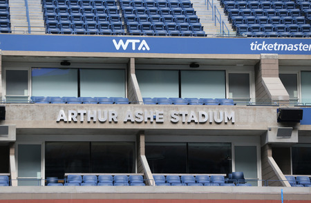 NEW YORK - AUGUST 21, 2018: Arthur Ashe Stadium at the Billie Jean King National Tennis Center ready for 2018 US Open tournament in New York