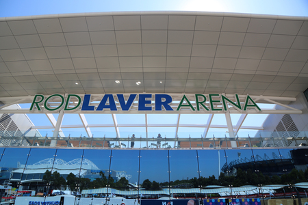 MELBOURNE, AUSTRALIA - JANUARY 27, 2019: Rod Laver arena during 2019 Australian Open at Australian tennis center in Melbourne Park. It is the main venue for the Australian Open since 1988