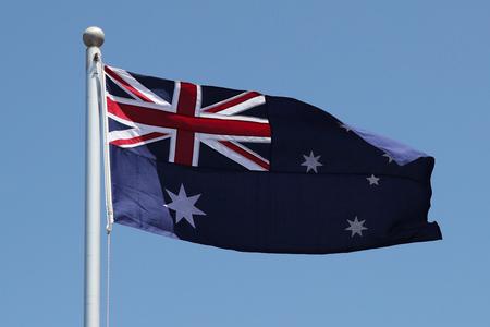 Australian Flag in wind