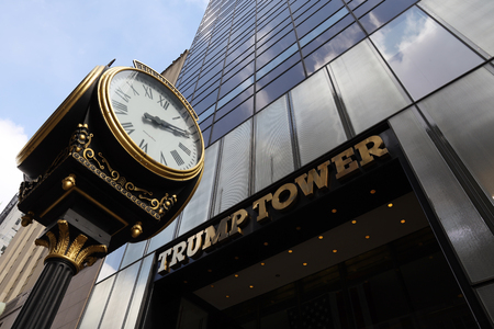 NEW YORK - MARCH 7, 2019: Trump Tower on 5th Avenue in Manhattan