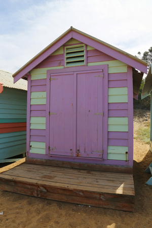 Colorful Bathing Boxes in Brighton Beach, Melbourne, Australia