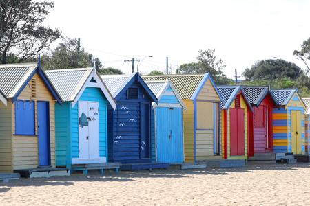 Colorful Bathing Boxes in Brighton Beach, Melbourne, Australia
