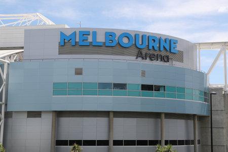 MELBOURNE, AUSTRALIA - JANUARY 27, 2019: Melbourne Arena during 2019 Australian Open at Australian tennis center in Melbourne Park. Hisense Arena has been renamed to Melbourne Arena
