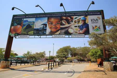MPUMALANGA, SOUTH AFRICA - OCTOBER 2, 2018: Entrance at the Kruger Mpumalanga International Airport in South Africa.