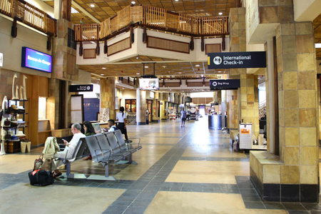 MPUMALANGA, SOUTH AFRICA - OCTOBER 2, 2018: Inside of the Kruger Mpumalanga International Airport in South Africa.