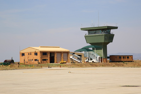 MPUMALANGA, SOUTH AFRICA - OCTOBER 2, 2018: Air traffic control at the Kruger Mpumalanga International Airport in South Africa.
