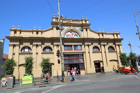 MELBOURNE, AUSTRALIA - JANUARY 24, 2019: Queen Victoria Market in Melbourne, Australia. It is a major landmark and the largest open air market in the Southern Hemisphere