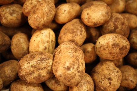Brushed potatoes at Australian market