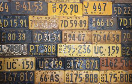 Old New York State car license plates