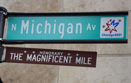Le signe du Magnificent Mile à Chicago, Illinois