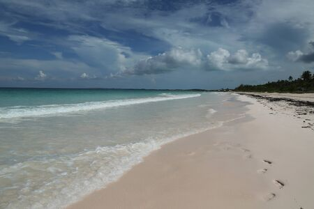 A beautiful Caribbean beach at Harbor Island, Bahamas Stock Photo
