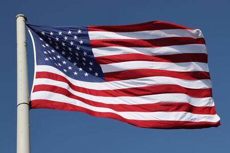 The American Flag in the wind