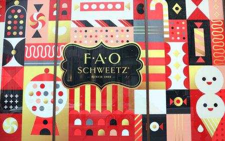 NEW YORK - JULY 18, 2019: The FAO Schwarz flagship store at Rockefeller Plaza in Midtown Manhattan