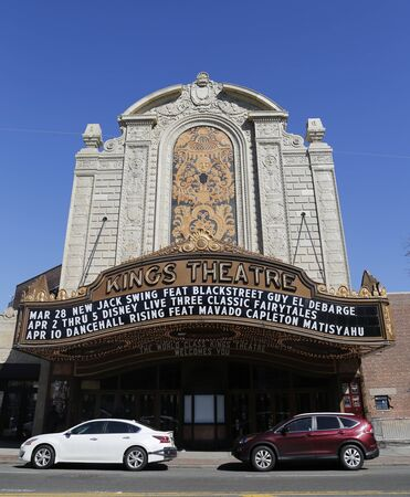 BROOKLYN, NEW YORK - MARCH 29, 2015: The Kings Theatre, formerly Loews Kings Theatre, in the Flatbush neighborhood of Brooklyn, New York