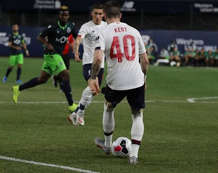 NEW YORK - JULY 24, 2019: Ryan Kent of Liverpool FC (40) in action against Sporting CP in the 2019 Western Union Cup game at Yankees stadium in New York