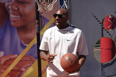 NEW YORK - AUGUST 29, 2019: Basketball legend Kobe Bryant visits the 2019 US Open and the Net Generation Kids' Zone at Billie Jean King National Tennis Center