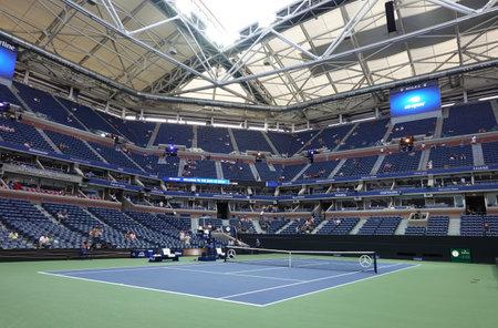 NEW YORK - SEPTEMBER 3, 2019: Arthur Ashe Stadium at Billie Jean King National Tennis Center during 2019 US Open match in New York